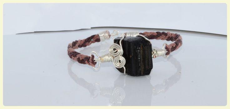 Zauberhaftes geflochtenes Roh Tektit Edelstein Armband/Tektit Edelstein Armband/ Spirituelle Armband/ Heilungkraft Armband von GyaStyle auf Etsy