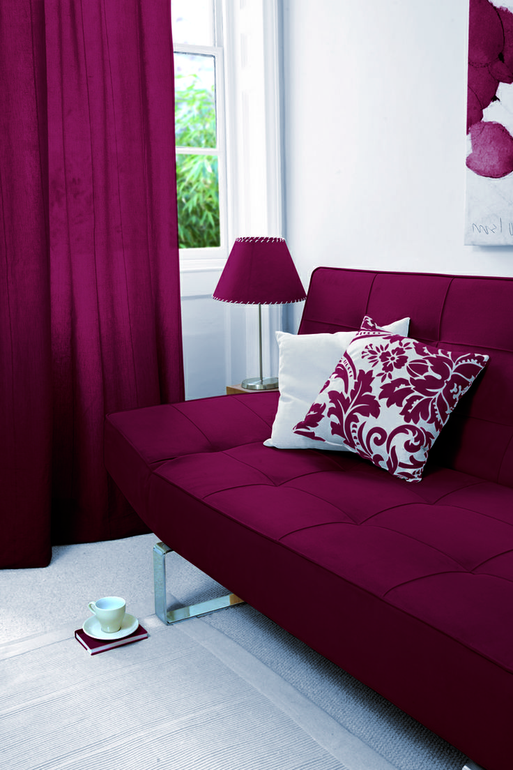 Add some accents of splendor to your living room with Burlesque Red Fabric Dye from DYLON.