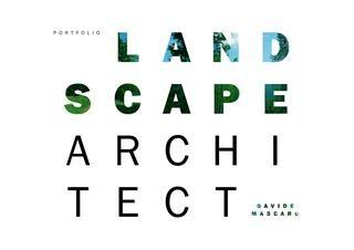 Portfolio Landscape Architect - Davide Mascaro - 2017
