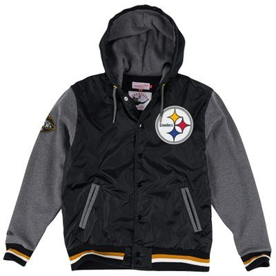 Pittsburgh Steelers Mitchell & Ness League Standings Jacket – Black