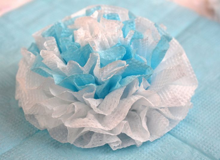 Paper Rosettes Look Like Real Touch Flowers 10 Tissue Paper Flowers Tissue Pom Poms For Holiday Table Runners Blue Paper Napkins Paper Flowers Paper Rosettes Tissue Paper Flowers