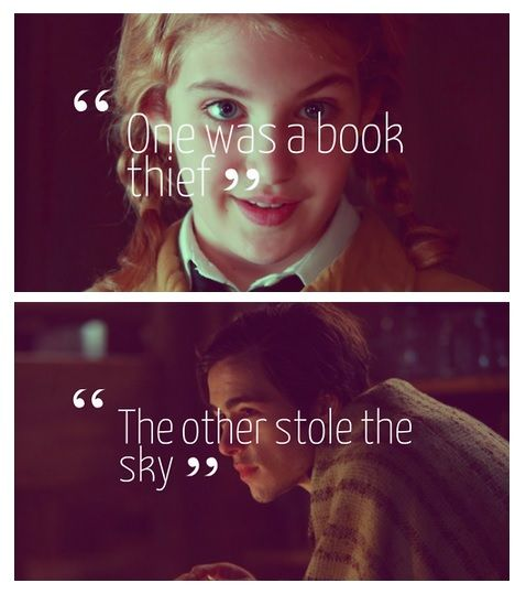 The book thief - don't care if i have already pinned this. Went to see the film the other day and cried almost as much as i did at the book. If you haven't seen/read well why are you on pintrest? Go watch it or read it now your life will change and other things like that. Okay, - Emily
