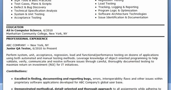 20 Entry Level Qa Tester Resume In 2020 Job Resume Samples