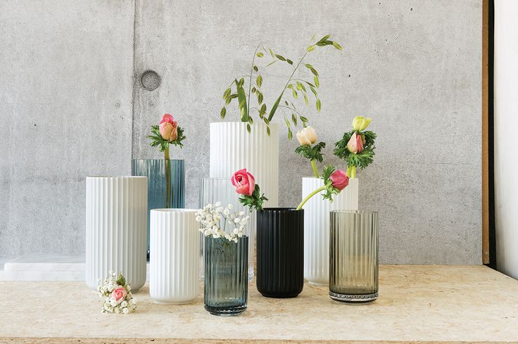 Designer classics from Danish brand Lyngby Porcelæn, now also in beautiful watercolor glass vases.