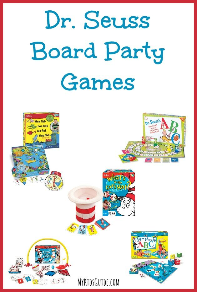 Dr Seuss Board Party Games for Kids | MyKidsGuide.com
