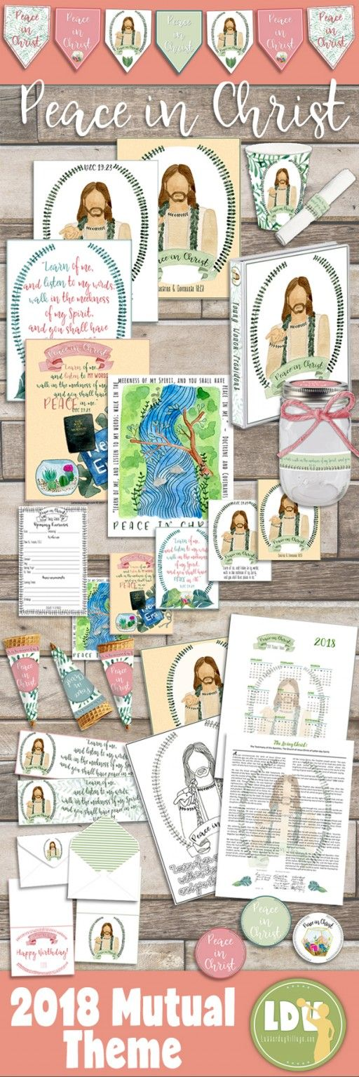 2018 Mutual Theme - Peace In Christ - Printables and Activities Collection now in the Red Brick Store!