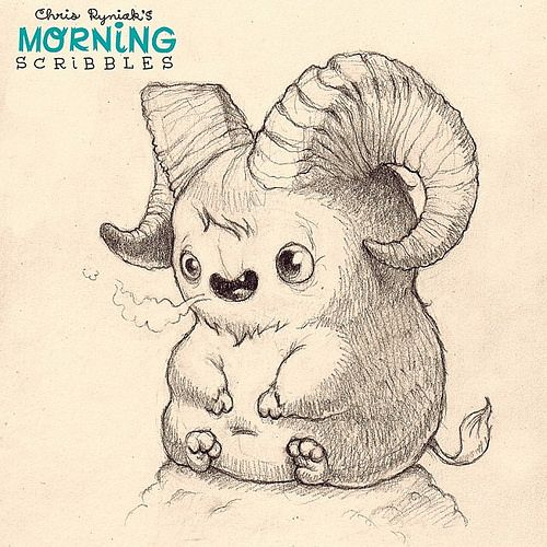 "Billy says, "" Bahhhhhhhh"". #morningscribbles 