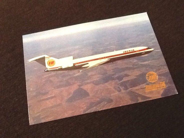 Carte postale Iberia Boeing 727/256