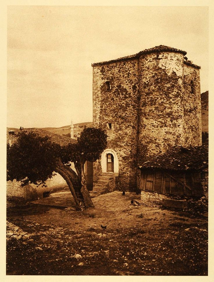 1926 Farsala Greece Hellas Euboea Medieval Home Ruins (On Ebat)