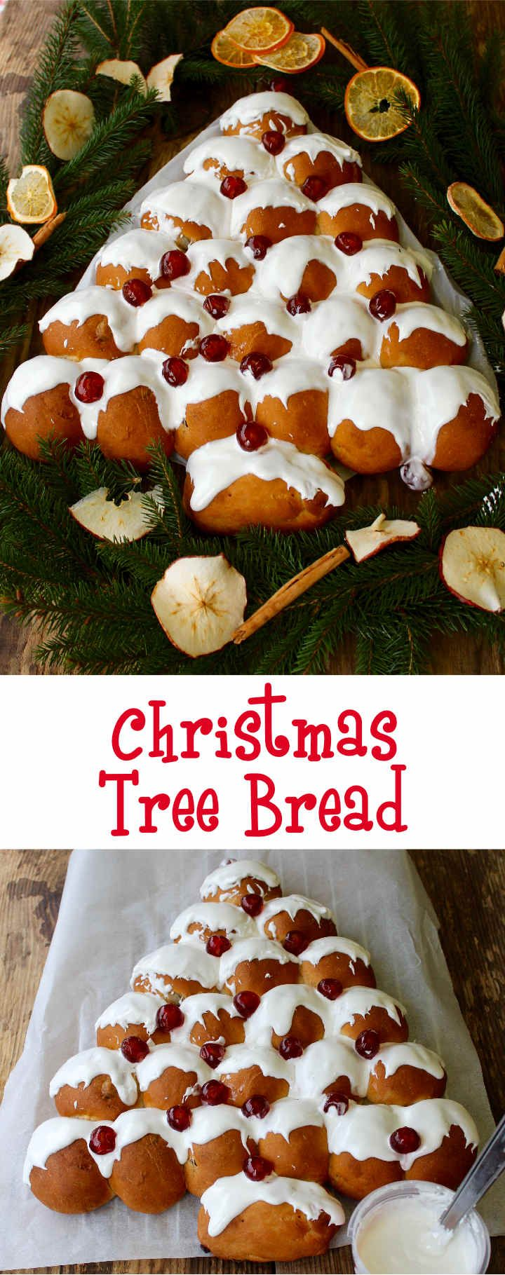 Sweet & Spicy Christmas Tree Bread makes a great centrepiece for any festive table - a delicious Christmassy tear & share bread packed with fruit & spices to be enjoyed by all the family!