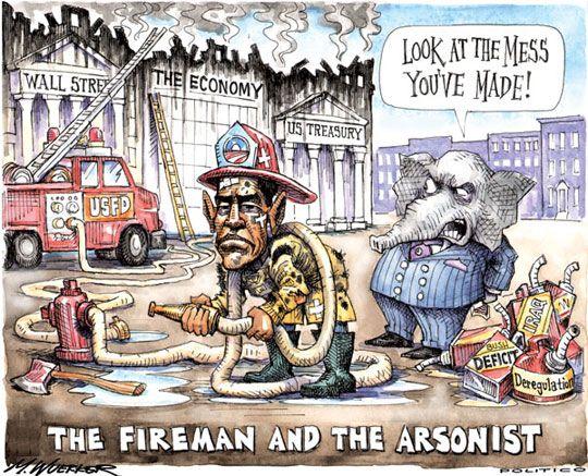 funny politics | funny-Obama-firefighter-political-cartoon