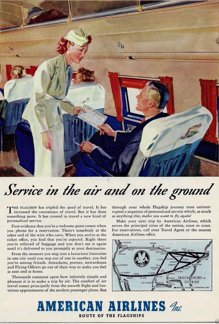 American Airlines 1950's American airlines, Vintage