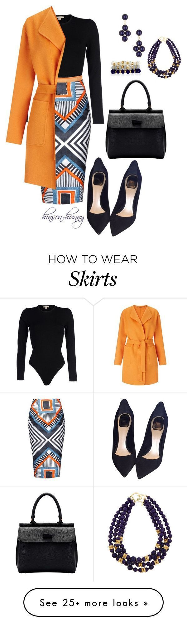 """Business as usual"" by hinson-hunny on Polyvore featuring Michael Kors, Sophie Hulme, Marella, Christian Dior, Yochi, Kenneth Jay Lane and Accessorize // Dresses & Skirts"