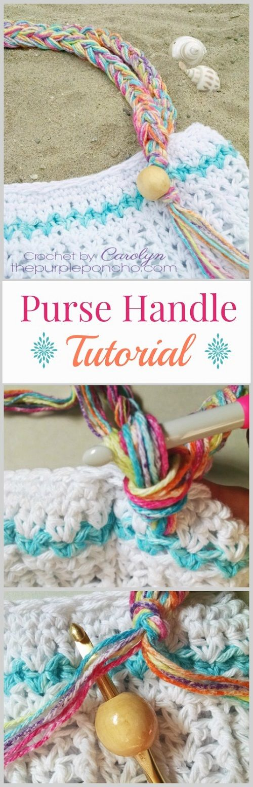 A tutorial on the crochet purse handle with beads and fringe that I made for the Beach Day Tote Bag, which is part of the #CelebrateMomCAL. Sponsored by Premier Yarns and is a big event h…