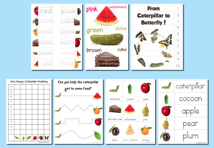 Educational Freebie: The Very Hungry Caterpillar Preschool Pack