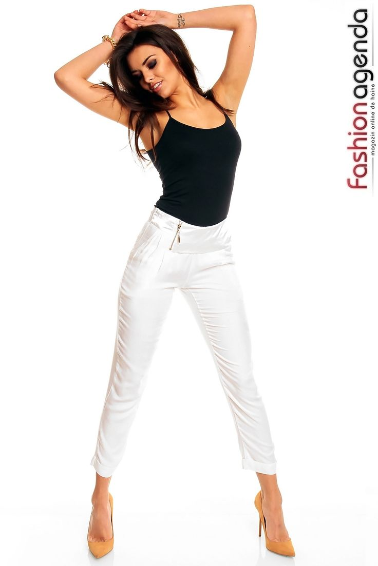 Pantaloni Albi Harem la 129 lei | FashionAgenda