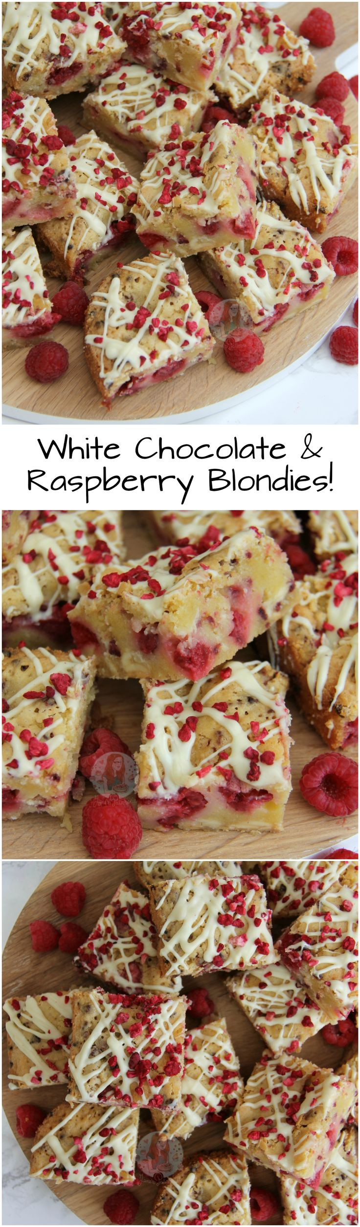 White Chocolate & Raspberry Blondies! ❤️ Easy, Delicious, Fruity and Chocolatey… What more could you want?! White Chocolate and Raspberry Blondies that everyone will adore and love!
