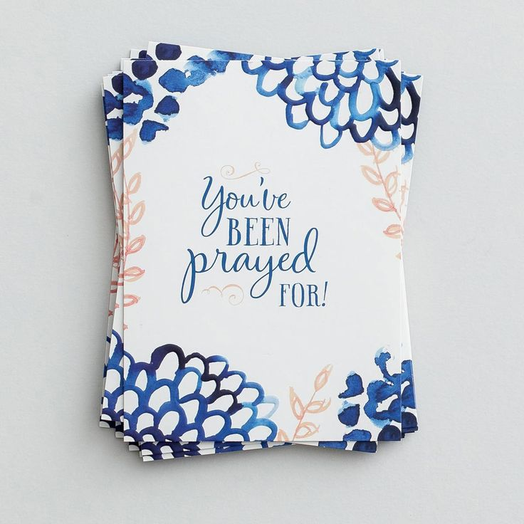 "Encourage family and friends with a heartfelt, handwritten note inside these lovely premium note cards—powerful Scripture printed inside!  Cover: You've been prayed for!  Inside: Scripture: Let us hold unswervingly to the hope we profess, for He who promised is faithful.  Hebrews 10:23 NIV  Product Details:  10 notes and 10 envelopes Note card features embossing Printed on premium paper Folded card size:  3 7/8"" x 5 5/16"""