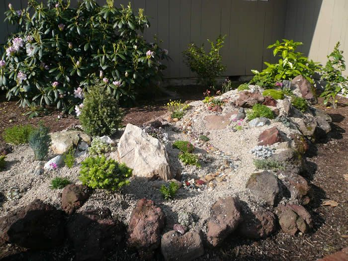 Small Rock Garden Ideas Special Rocks Collected By Betty Were Included In  The Garden 700x525