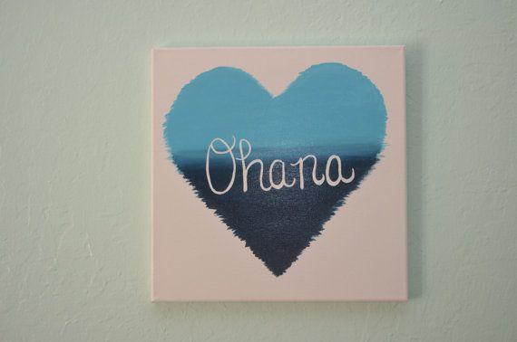 Ohana 12x12 Hand Painted Canvas Acrylic Painting by ikArt on Etsy, $25.00