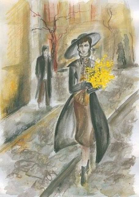 The Yellow Flowers - Artist unknown