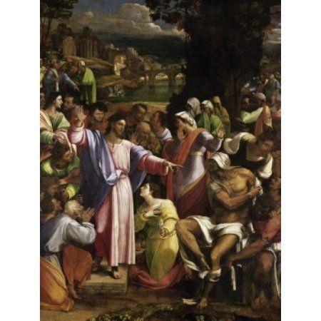 The Raising of Lazarus Sebastiano del Piombo (C 1485-1547Venetian) National Gallery London Canvas Art - Sebastiano del Piombo (24 x 36)