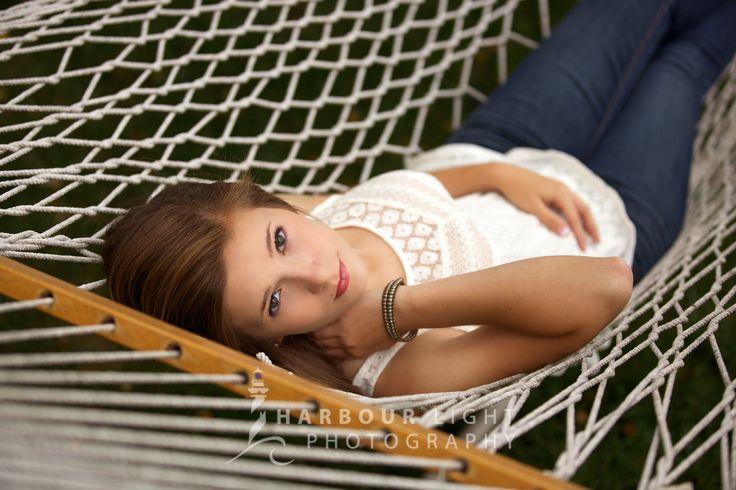 fashion jewelry accessories High school senior portrait on hammock in portrait park