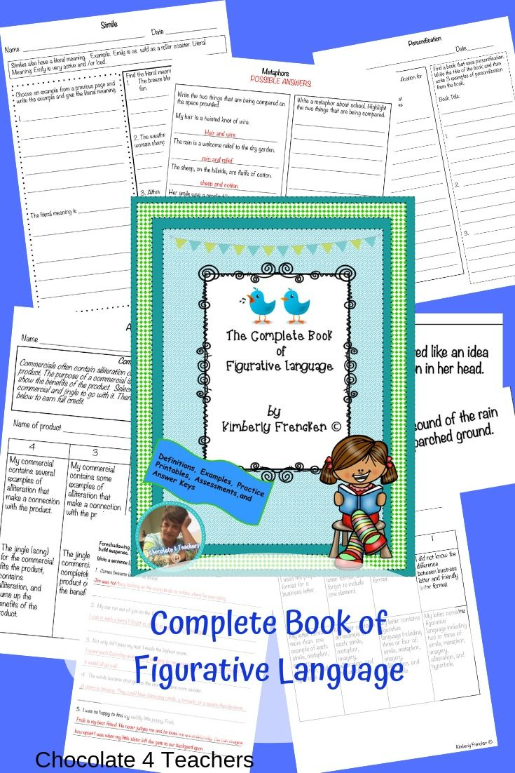 Complete Book Of Figurative Language Figurative Language Middle School Teaching Resources