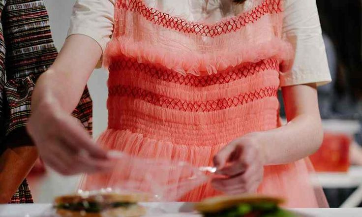 Brightly coloured tulle and hand smocking - Molly Goddard