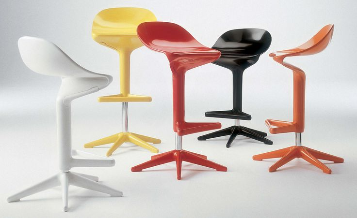kartell spoon stool by antonio citterio