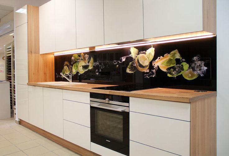 Zdjęcie nr 1 w galerii Kuchnia nowoczesna bez uchwytów w kolorze magnolii –…