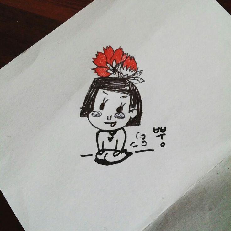 Little girl drawed by Hannah.K