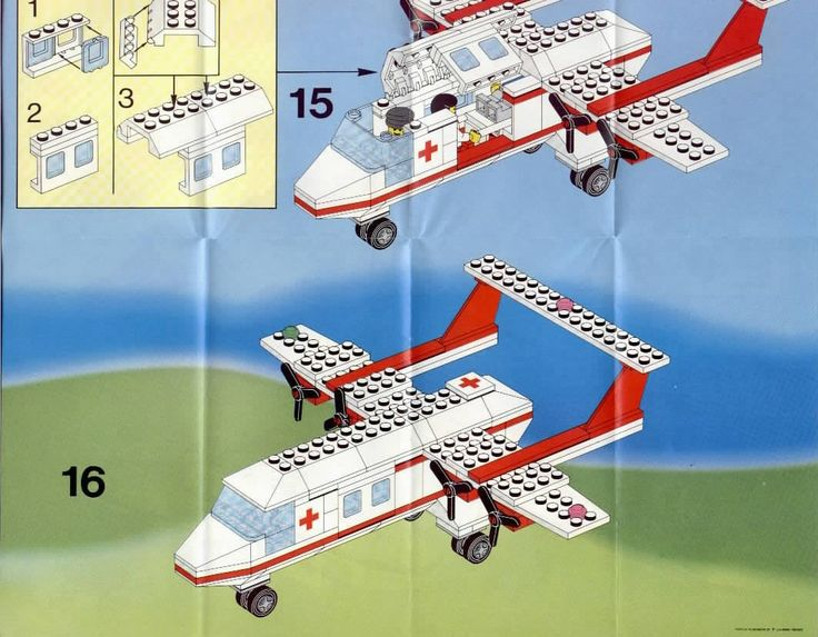 lego police airplane instructions