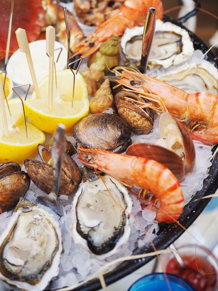 Fresh seafood at Au Poseidon, Nice,Cote d'Azur