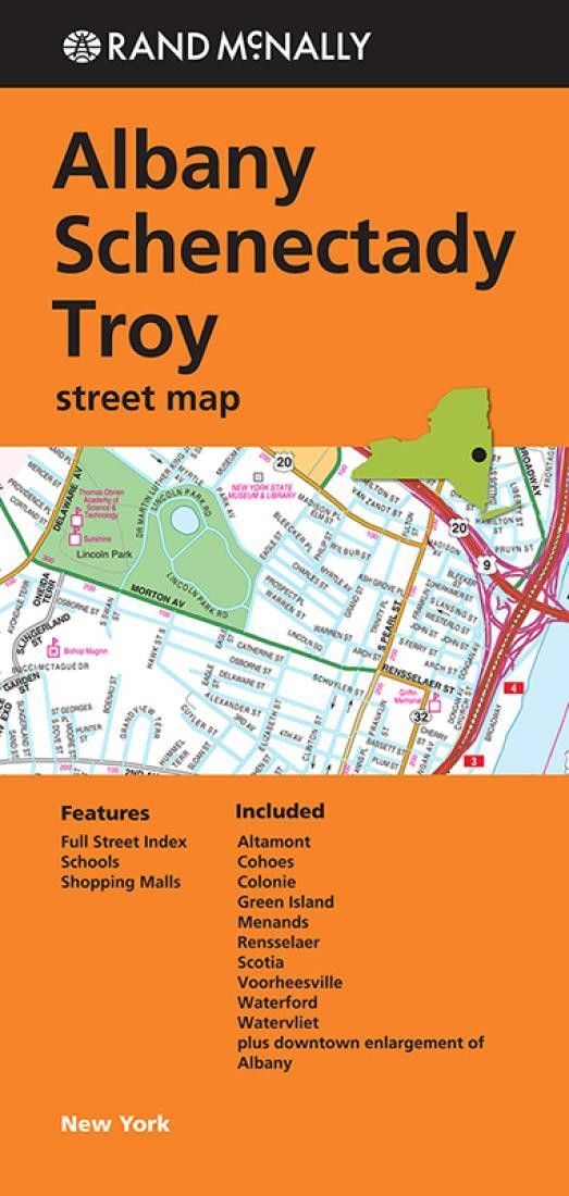 Albany, Schenectady and Troy, New York by Rand McNally