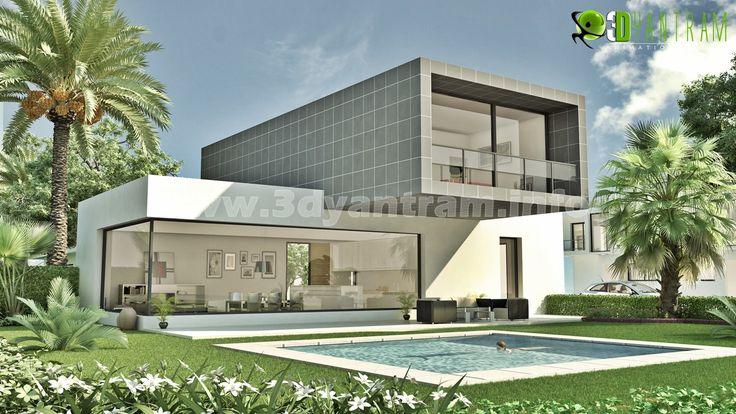 Architectural exterior 3d modeling chicago visit us http for 3d house walkthrough