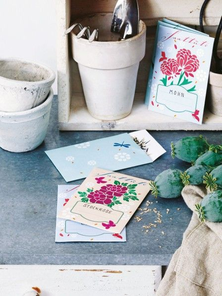 Saatgut von Blumen lässt sich wunderbar sammeln. In kleinen Tüten kann man es gut aufbewahren und verschenken oder im nächsten Frühjahr verwenden.