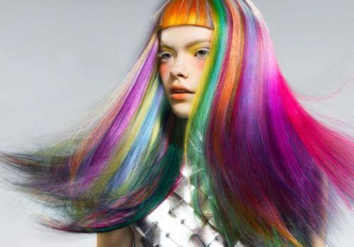 via very very chic: Rainbows Hair, Hair Colors, Bobs Hairstyles, Rainbows Colors, Rainbow Hair, Colours Hair, Rainbowhair, Neon Hair, Colors Hair