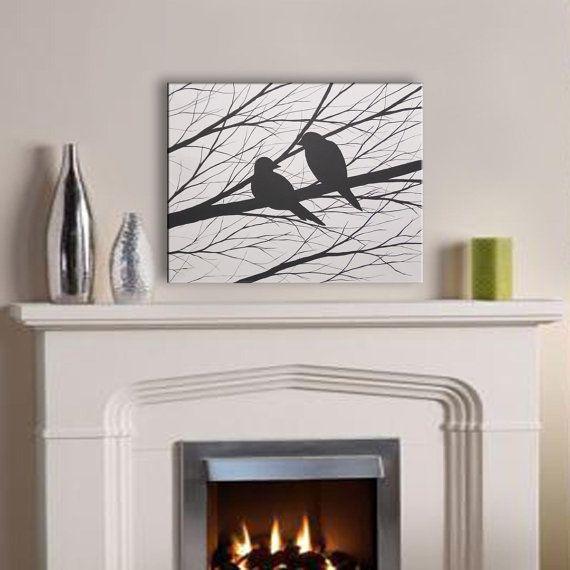 VENDITA pittura di uccelli Black & White Bird di ToddEvansArt