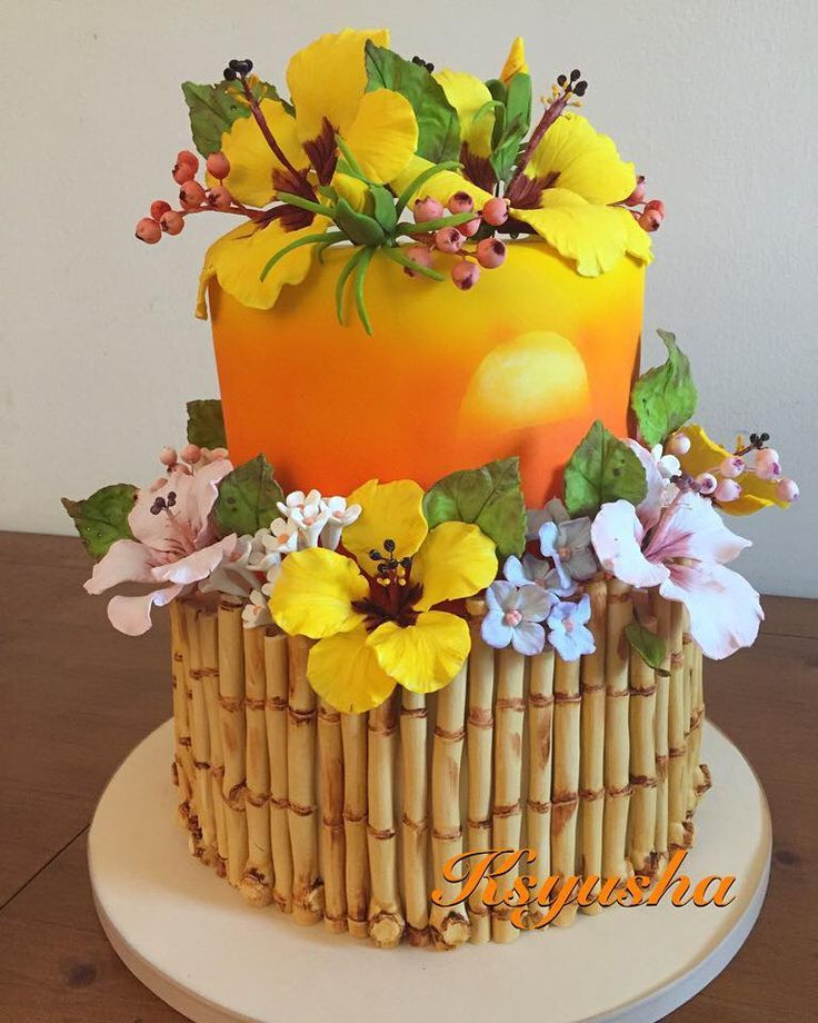 Tropical Bamboo Cake By Ksyusha