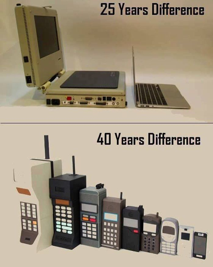 Via Imgur  The evolution of technology. #computers #laptops #mobilephones by technigadgets