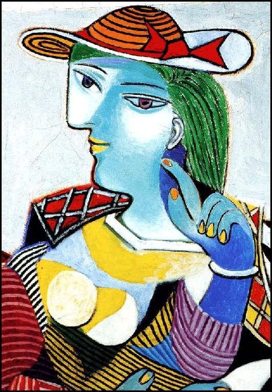 Femmes à chapeau (138) Pablo Picasso (1881-1973) Portrait de Marie-Thérèse - 1937 Femme assise au chapeau Buste femme au chapeau - Buste de femme au chapeau - 1941