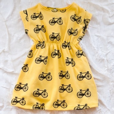 bicycle dress: so cute! Another one AUntie Heather would love if we have a girl...