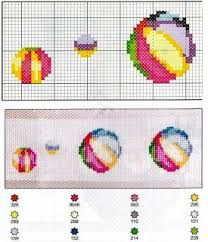 resultado de imagen para cenefas punto cruz para toallas bebes