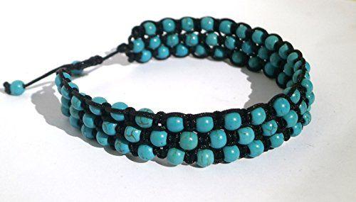 Turquoise Macramé Bracelet, Hand Bracelet, Turquoise Cuff... https://www.amazon.com/dp/B076X4J5X2/ref=cm_sw_r_pi_dp_x_7i18zb29V14ZB