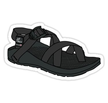 """Black Chaco"" Stickers by Nancy Morgan 