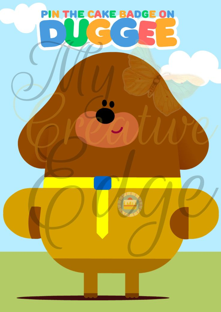 Hey Duggee - Party Game - Pin the Cake Badge on Duggee by MyCreatve3dge on Etsy