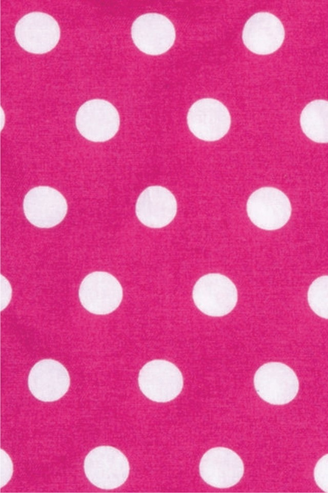 Fuchsia Polka Dot iPhone Wallpaper iPhone/iPod Touch