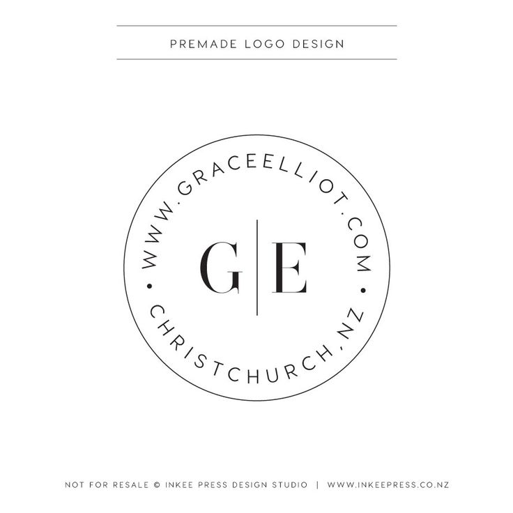 Premade Logo - Round , Stamp, Monogram, Simple, Linea by InkeePress on Etsy https://www.etsy.com/listing/264591243/premade-logo-round-stamp-monogram-simple