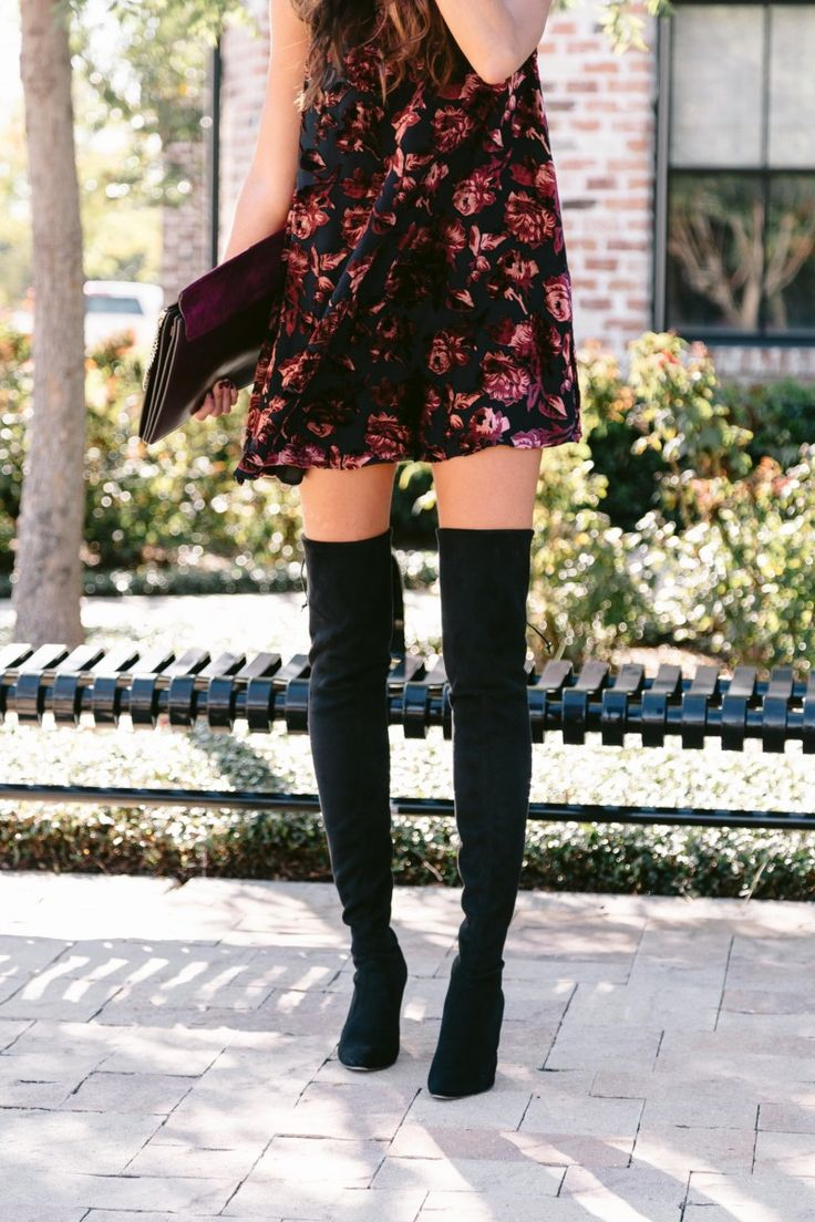 The Miller Affect wearing black Stuart Weitzman over the knee black boots from Nordstrom